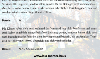 Lustige Sätze des Anwalts vom Wirt des Lola-Montez-Hauses.