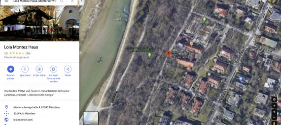 Das Lola Montez Haus auf Google Maps.